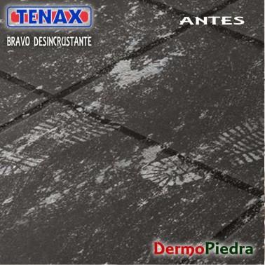 Huellas de cemento !  Perfecto para limpiar con Bravo Desincrustante detergente ácido.
