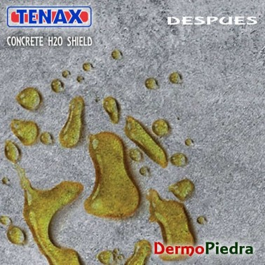 Superficie de cemento tratada con Concrete H2O Shield.