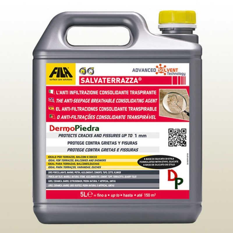 Salvaterrazza protector anti-filtraciones consolidante transpirable. garrafa de 5 litros