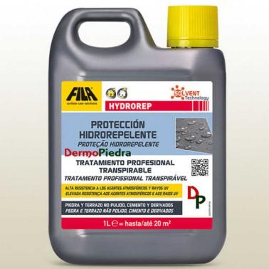 Hydrorep garrafa de 1 litro, protector hidrófugo anti-envejecimiento para piedra y cemento. base disolvente.