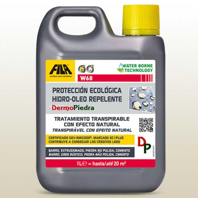 W68 protector antimanchas ecológico para superficies porosas. Garrafa de 1 litro