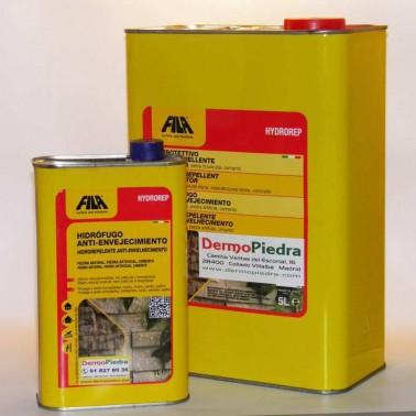 Formatos Hydrorep, protector hidrófugo anti-envejecimiento para piedra y cemento. base disolvente.