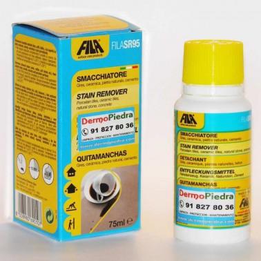 SR95 quitamanchas que elimina manchas orgánicas coloreadas.