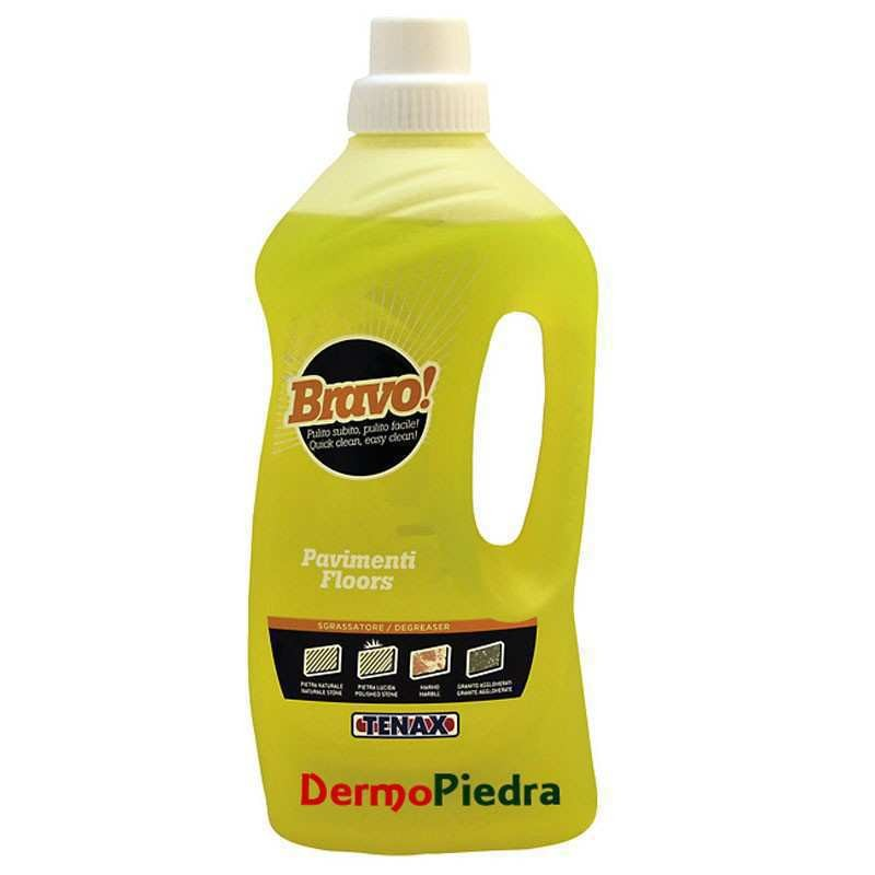 Bravo Pavimenti, limpiador neutro concentrado para mármol y todo tipo de pavimentos.