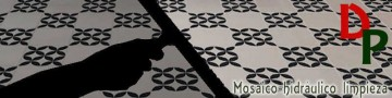 Productos para limpieza de superficies de mosaico hidráulico.