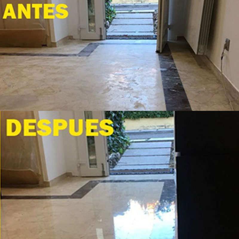 Pulido de pavimento de mármol Crema Marfil.